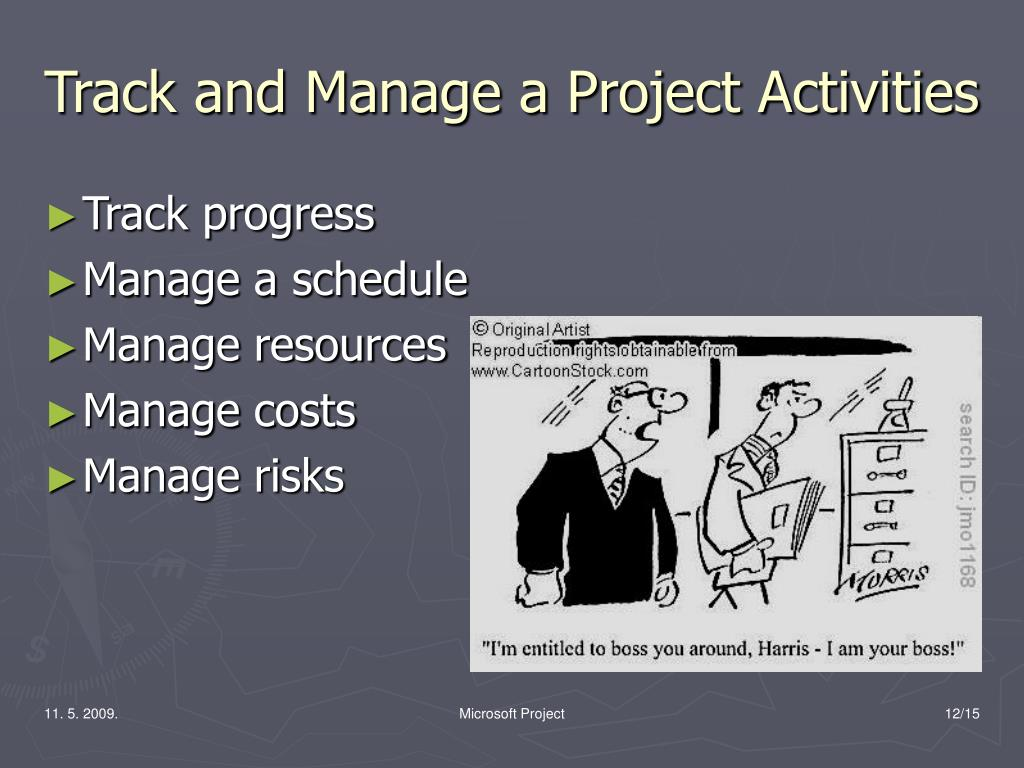Track and Manage a Project Activities
