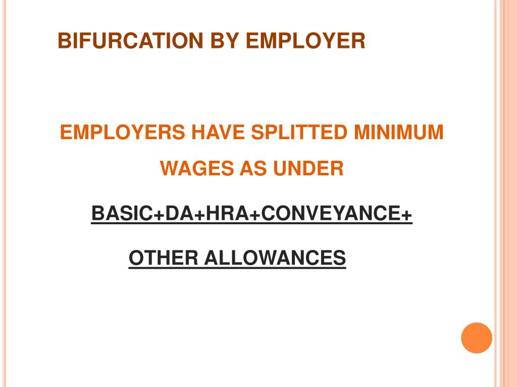 BIFURCATION BY EMPLOYER
