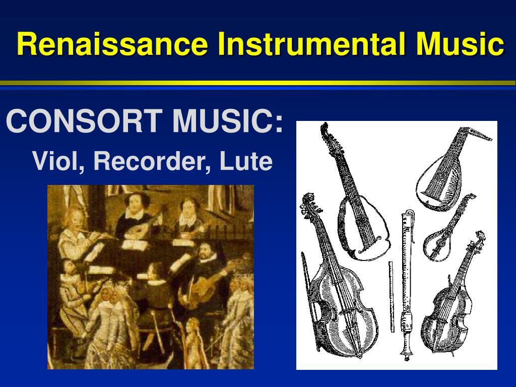 Renaissance Instrumental Music