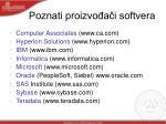 poznati proizvo a i softvera