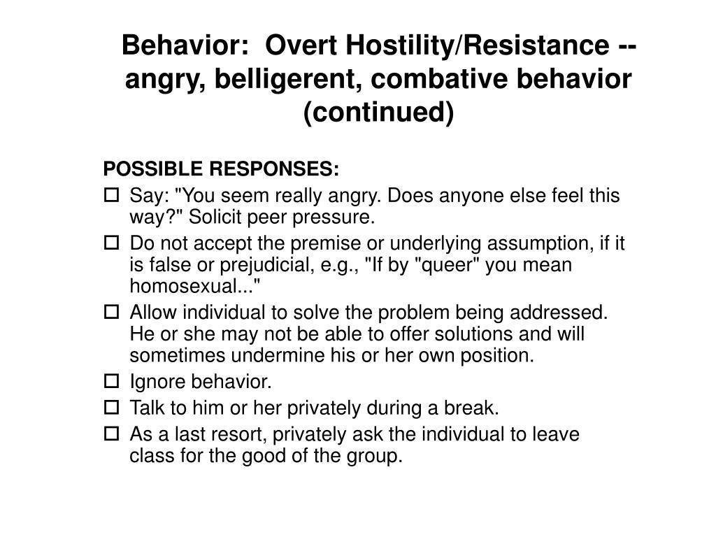 Behavior: