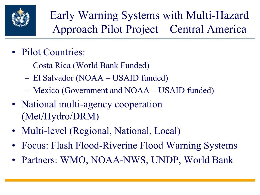 Early Warning Systems with Multi-Hazard Approach Pilot Project – Central America