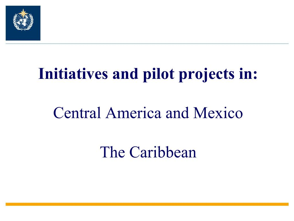 Initiatives and pilot projects in: