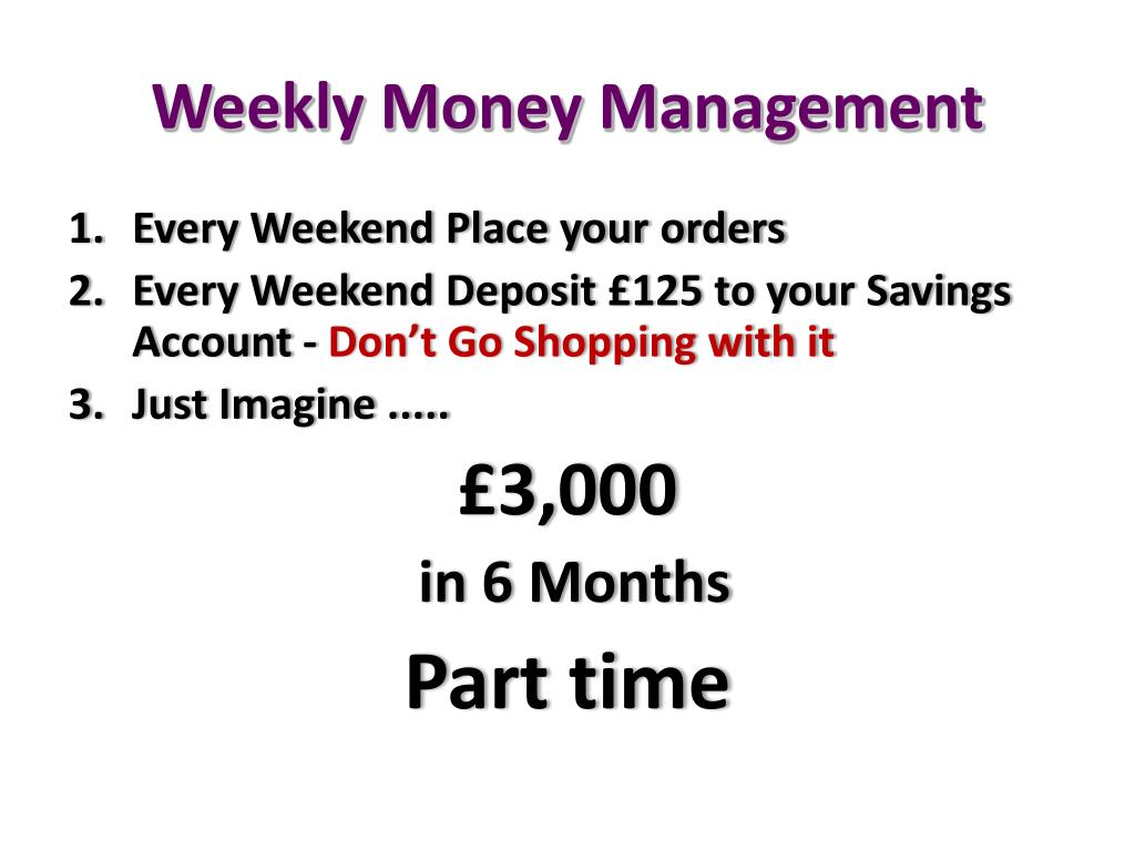 Weekly Money Management