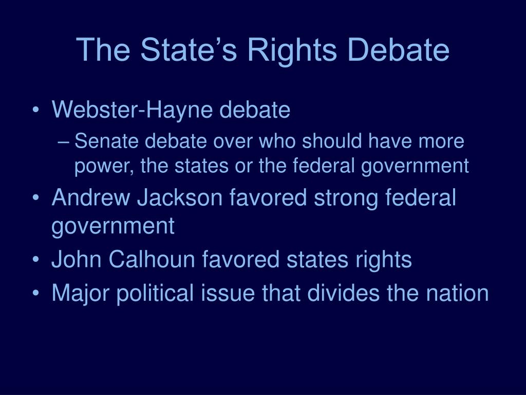 The State's Rights Debate