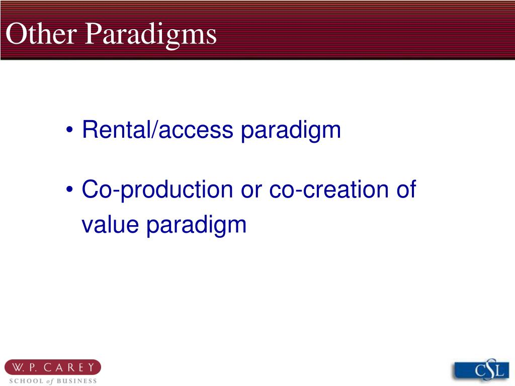 Other Paradigms