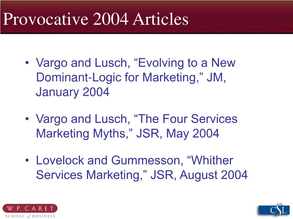 Provocative 2004 Articles
