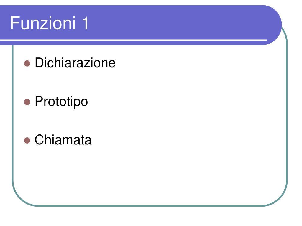 Funzioni 1
