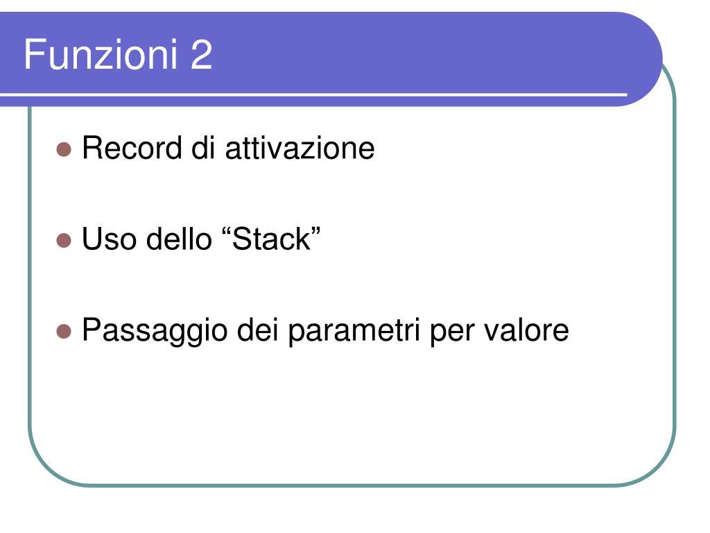 Funzioni 2