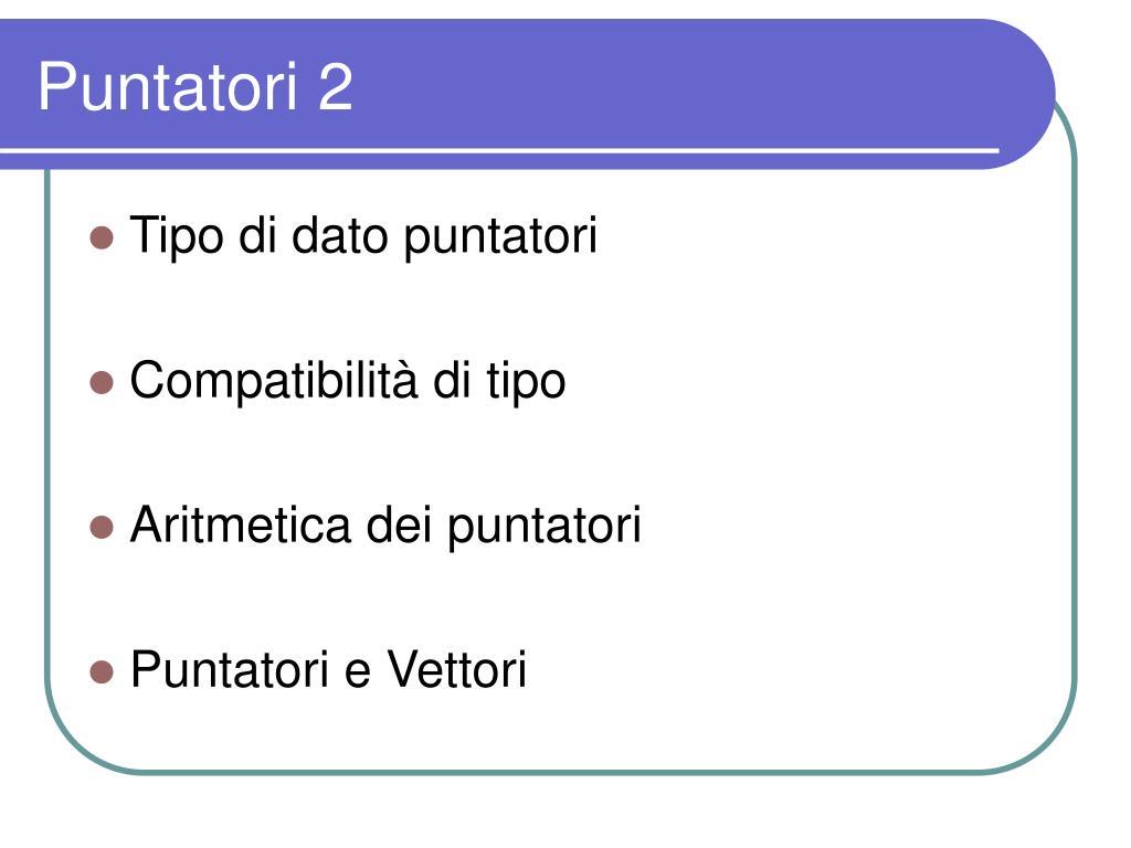 Puntatori 2