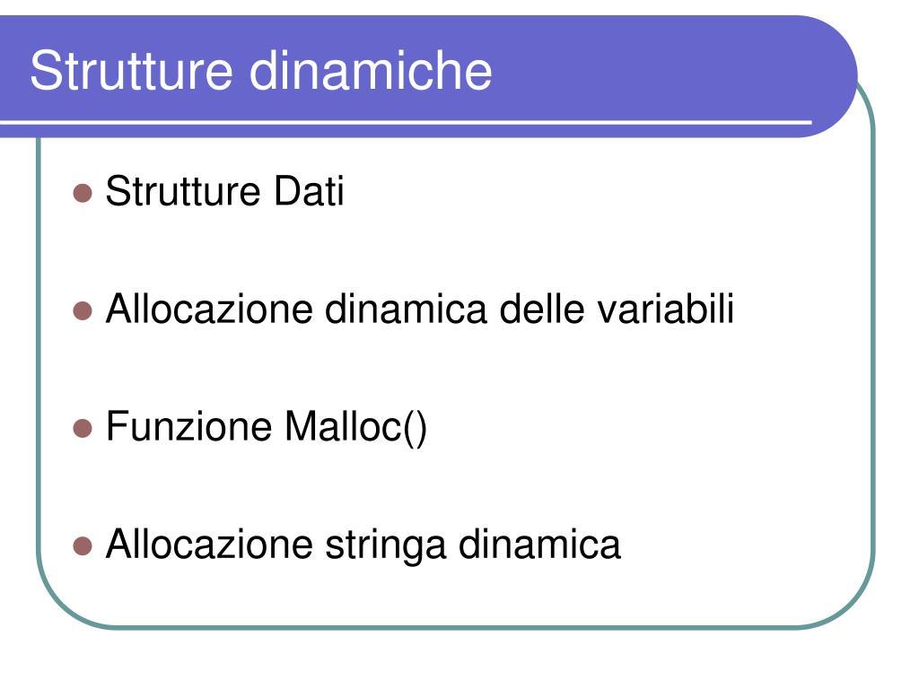 Strutture dinamiche