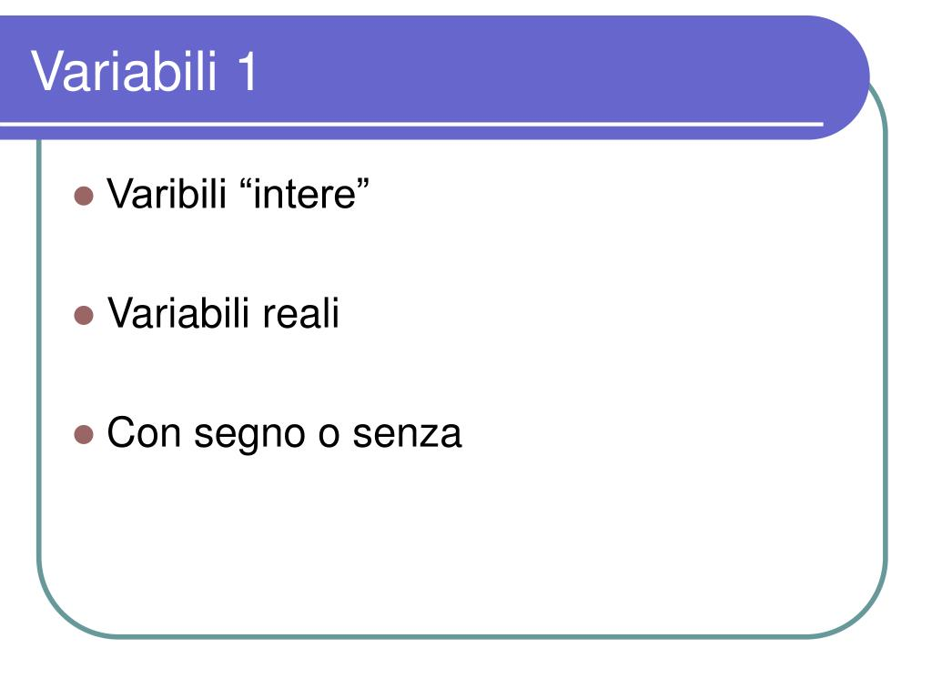 Variabili 1