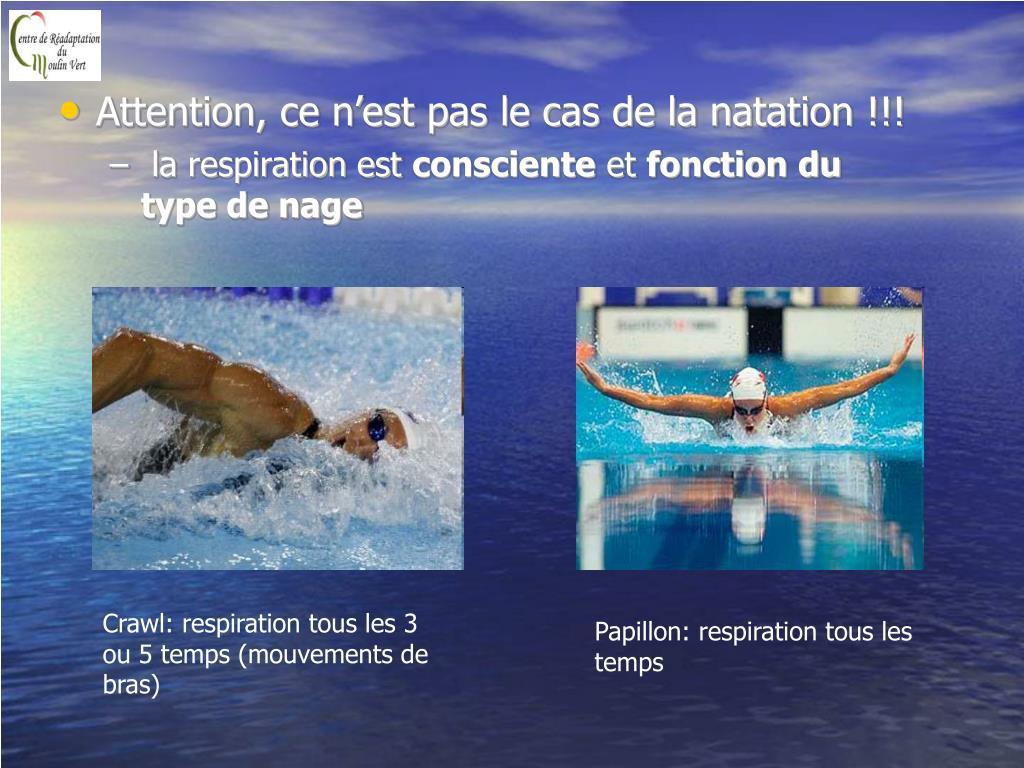 Attention, ce n'est pas le cas de la natation !!!
