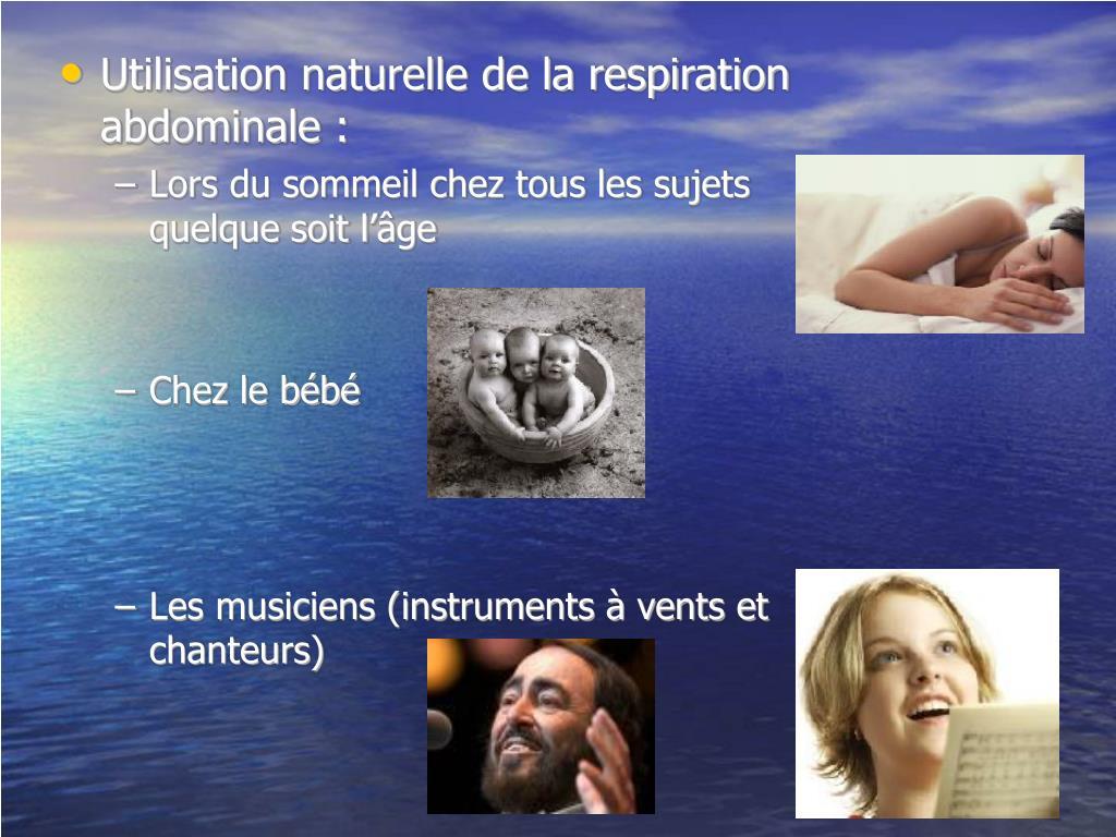 Utilisation naturelle de la respiration abdominale :