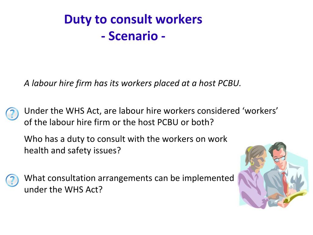 Duty to consult workers