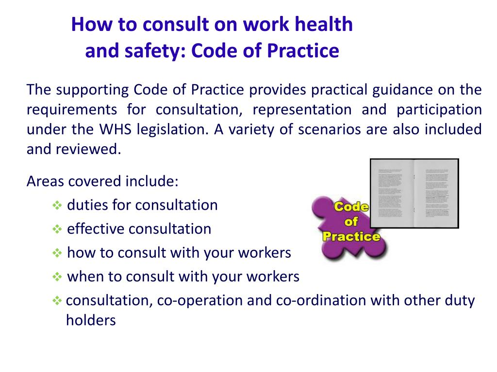 How to consult on work health and safety: Code of Practice