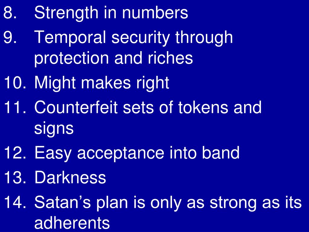 8.  	Strength in numbers