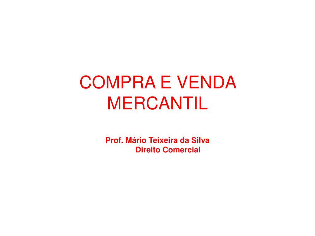 COMPRA E VENDA MERCANTIL