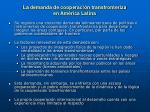 la demanda de cooperaci n transfronteriza en am rica latina