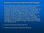 proyectos en la frontera argentina brasil paraguay