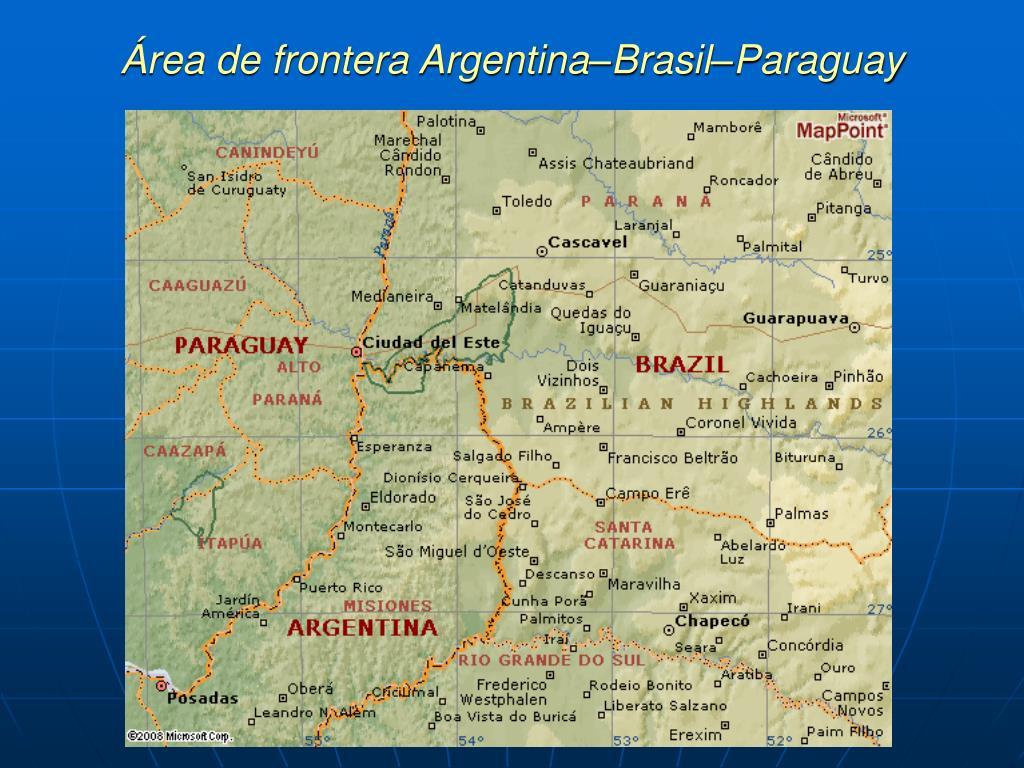 Área de frontera Argentina–Brasil–Paraguay