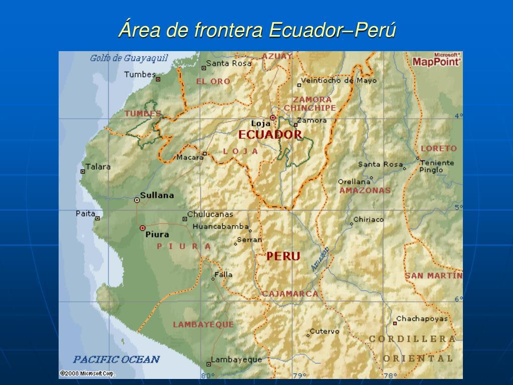 Área de frontera Ecuador–Perú