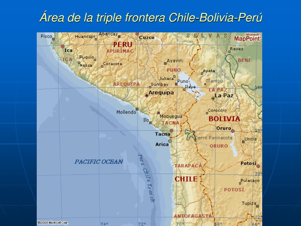 Área de la triple frontera Chile-Bolivia-Perú