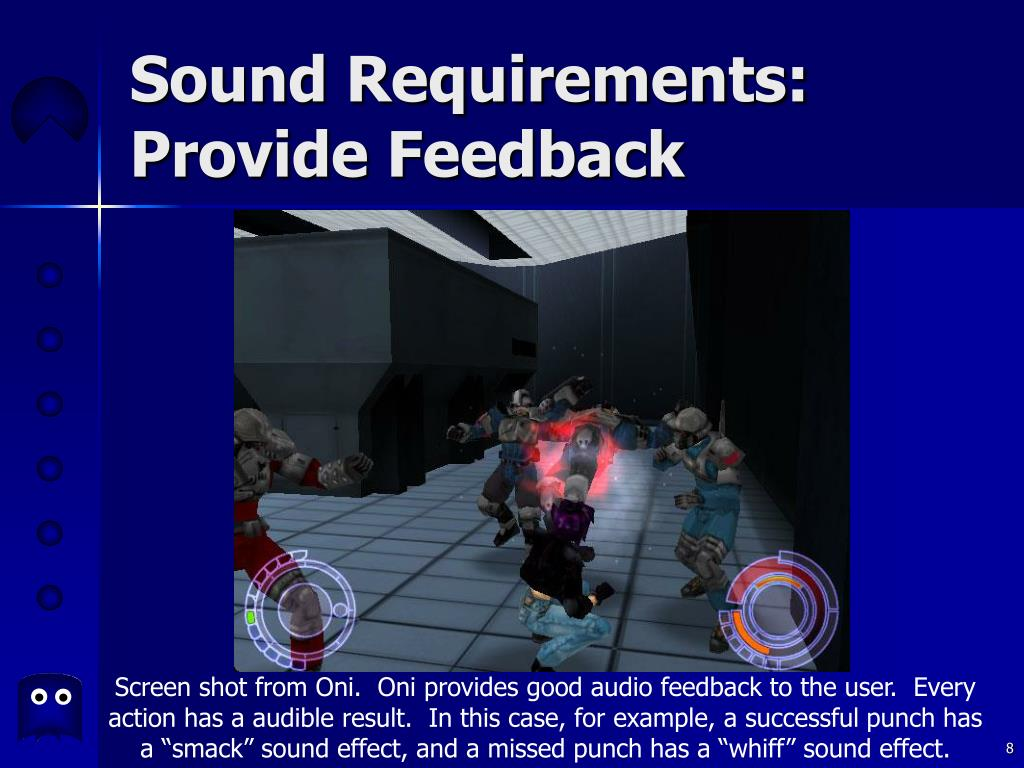 Sound Requirements: Provide Feedback