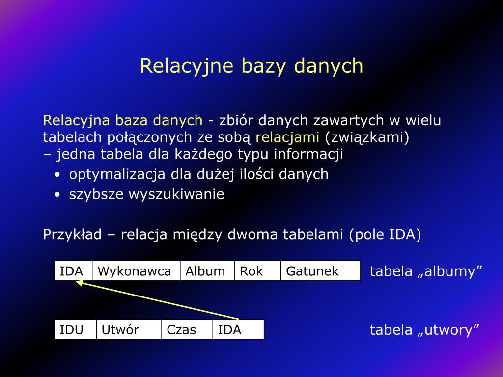 Relacyjne bazy danych