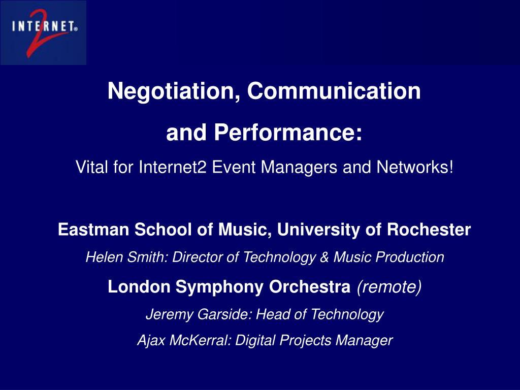 Negotiation, Communication