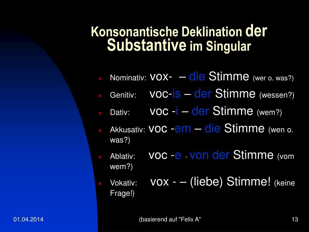 Konsonantische Deklination