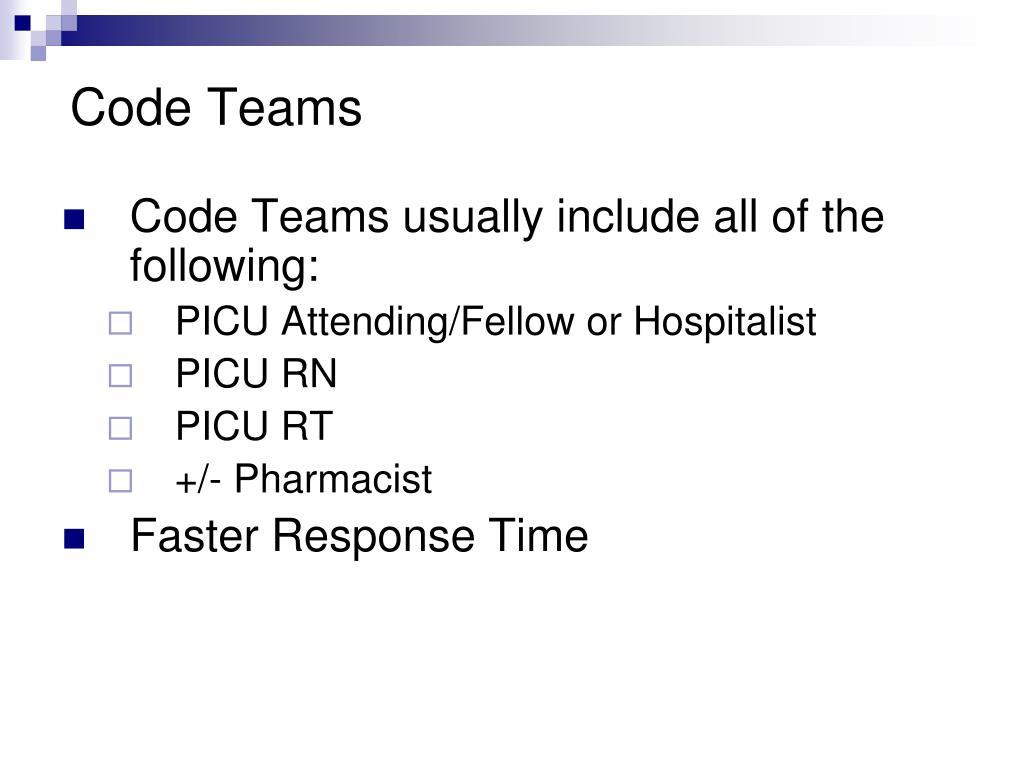 Code Teams
