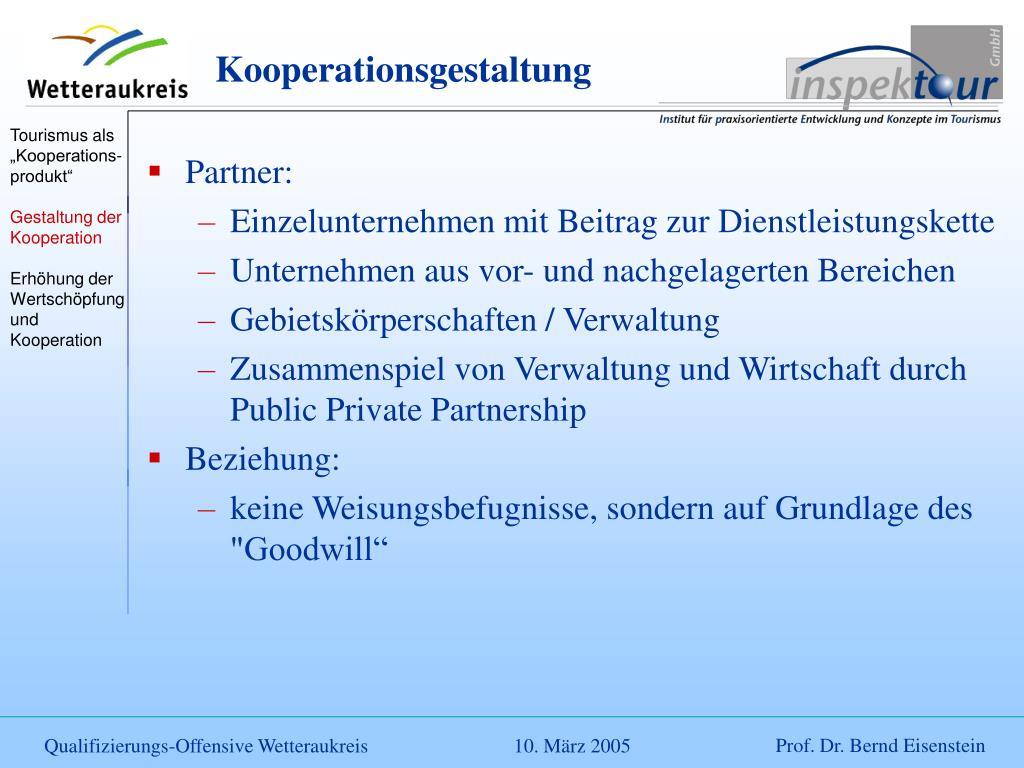 Kooperationsgestaltung