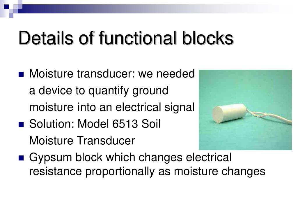 Details of functional blocks