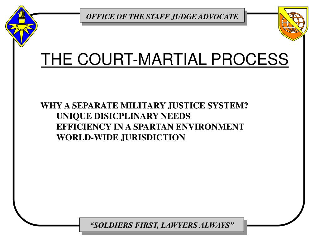 THE COURT-MARTIAL PROCESS