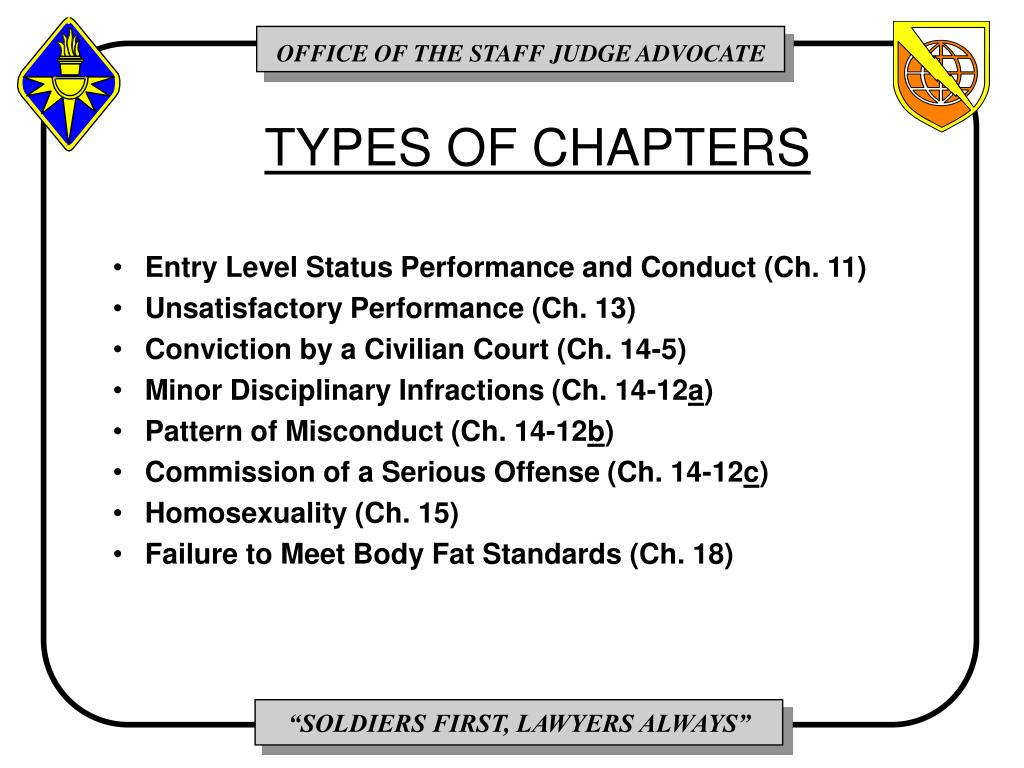 TYPES OF CHAPTERS