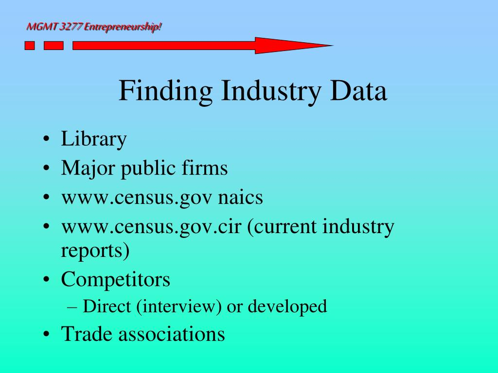 Finding Industry Data