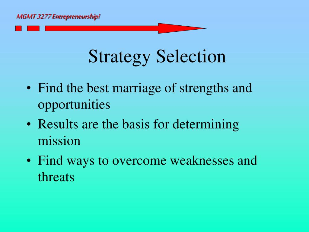 Strategy Selection