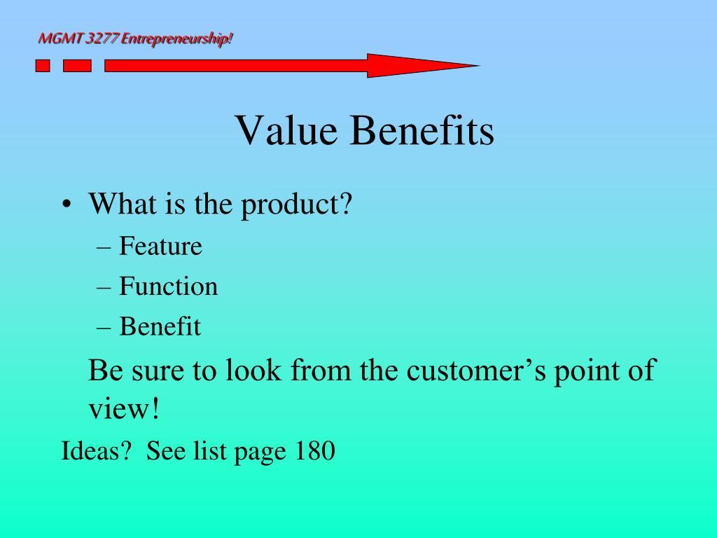 Value Benefits