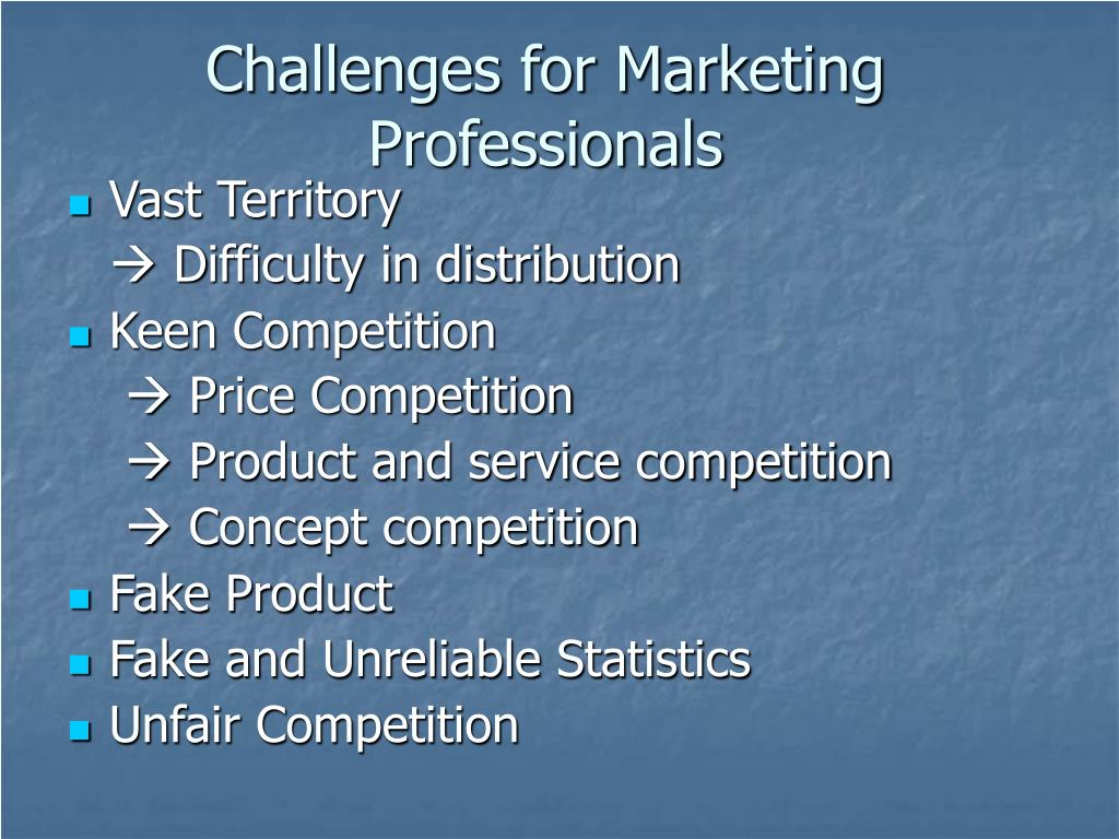 Challenges for Marketing Professionals