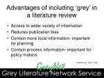 advantages of including grey in a literature review