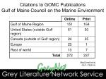 citations to gomc publications gulf of maine council on the marine environment