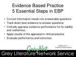 evidence based practice 5 essential steps in ebp