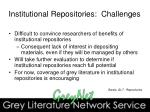 institutional repositories challenges