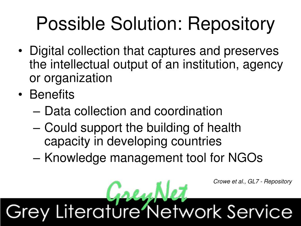 Possible Solution: Repository