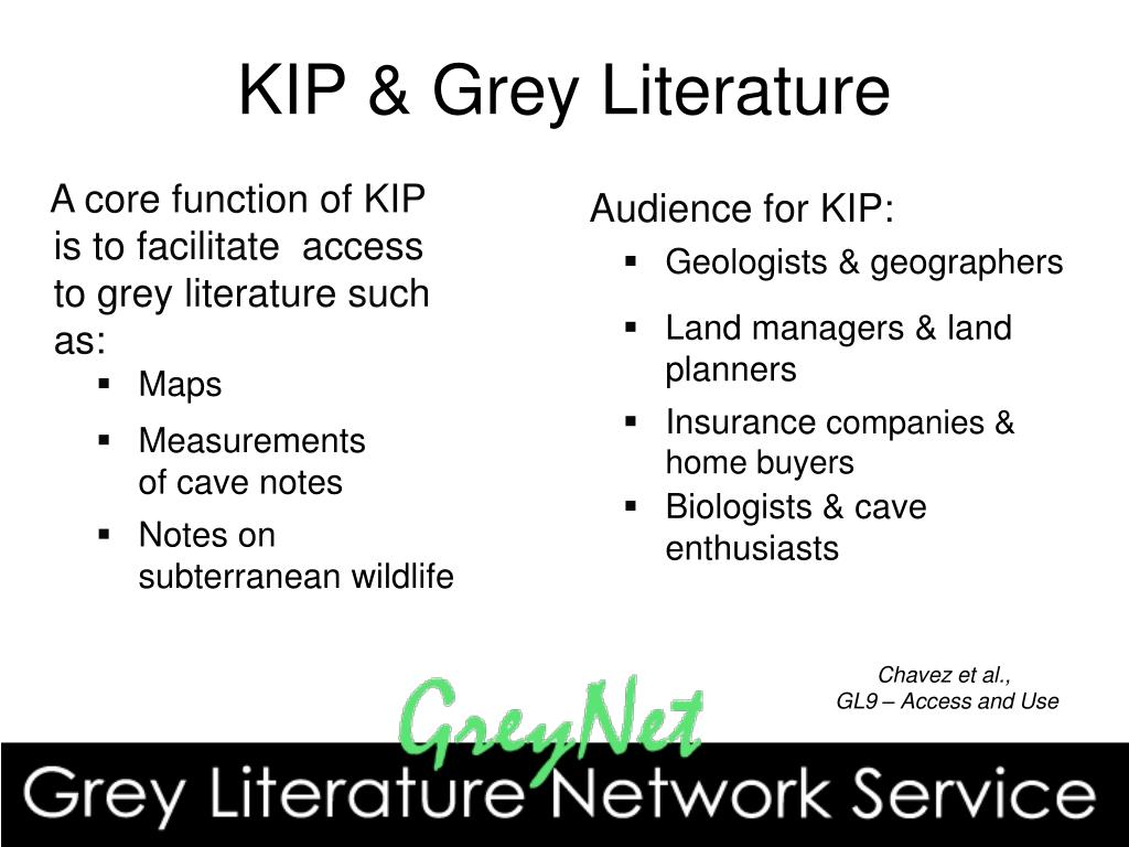 KIP & Grey Literature