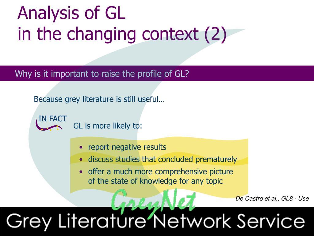 Analysis of GL