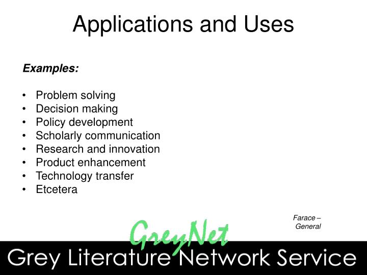 Applications and Uses