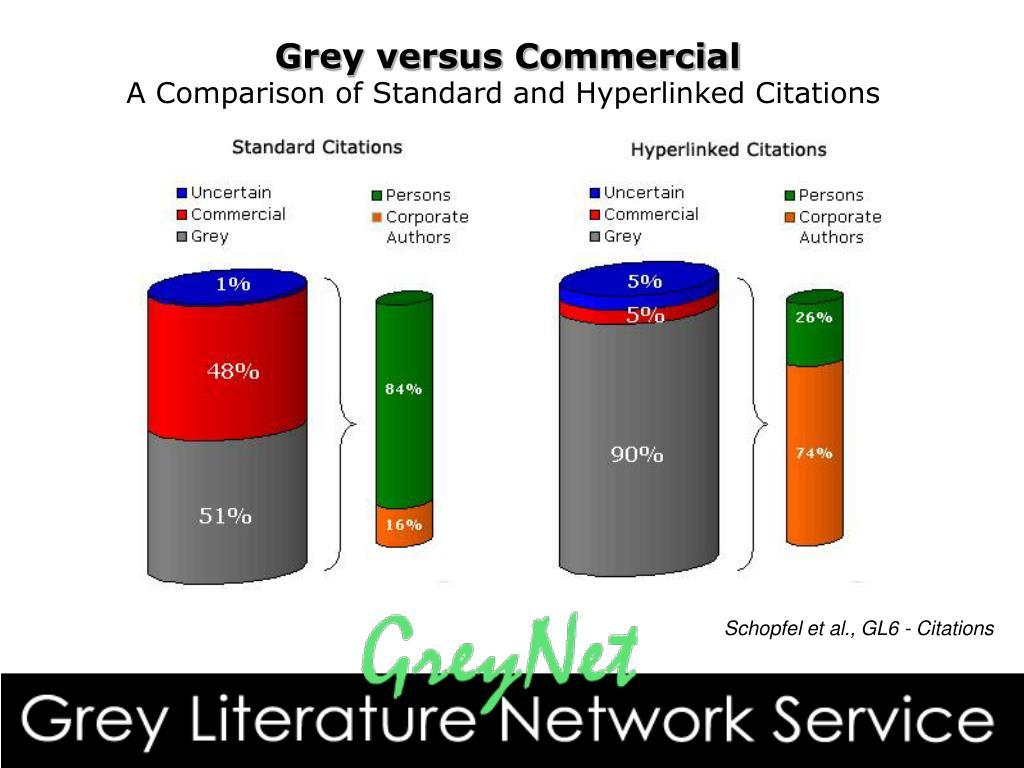 Grey versus Commercial