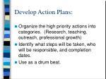 develop action plans